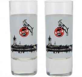 1.FC Köln Schnapsgläser Skyline 2er