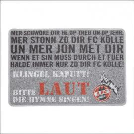"1. FC Köln Fussmatte ""Hymne"""