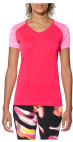 fuzeX V-NECK SS TOP DIVA PINK