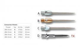 BULL'S Stahlspitzen Aluminium 2BA