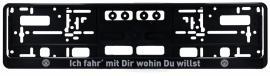 BVB Autokennzeichen Ich fahr´mit Dir wohin Du willst