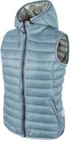 WOMAN VEST ZIP HOOD NERO