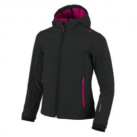 GIRL SOFTSHELL JACKET ANTRACITE-IBISCO
