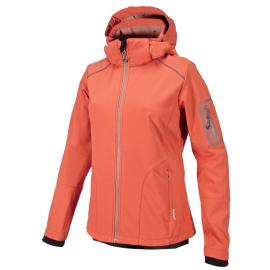 WOMAN SOFTSHELL JACKET ZIP HOOD PEACH-FLAMINGO
