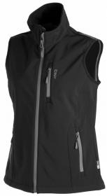 WOMAN SOFTSHELL VEST BLACK HEATHER/CLUB P