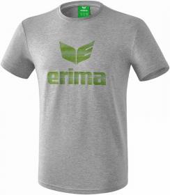 ESSENTIAL t-shirt light grey melange/twist of lime