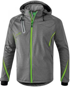softshell jacket FUNCTION grey melange/green gecko