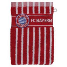 FCB Waschhandschuh rot/weiss