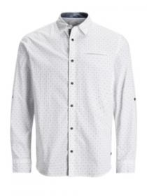 JORNORDLUND SHIRT LS ONE POCKET white