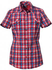 FARO SHIRT WOMEN hibiscus red checks