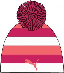 Kids Stripe Beanie II PUMA RED