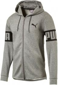 PUMA Rebel FZ Hoody, FL BLACK