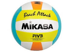 BEACH ATTACK Beachvolleyball weiss-gelb-blau-orange