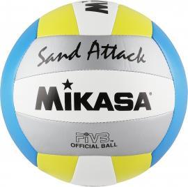 SAND ATTACK Beachvolleyball blau-gelb-silber