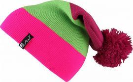 BLOCK K Ki. Bommelmütze fuchsia-lime-neon pink