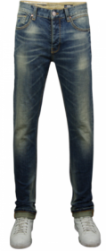 ESPEN Denim Slim Fit 1% PL DARK DENIM-WHITE-TEA