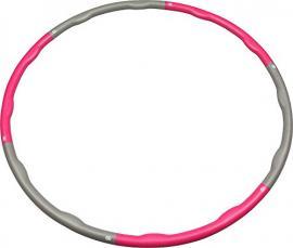 Gymnastikreifen mit Gewicht pink-grau