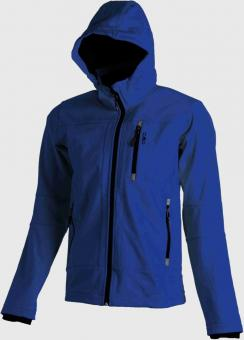 MAN SOFTSHELL JACKET ZIP  HOOD ROYAL