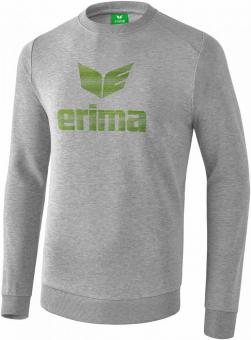 ESSENTIAL sweatshirt light grey melange/twist of lime