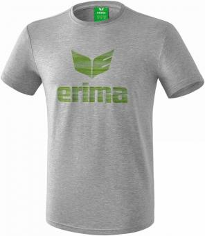 ESSENTIAL t-shirt light grey melange/twist of lime