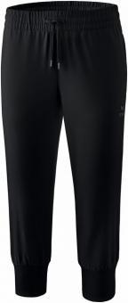 polyester pants black