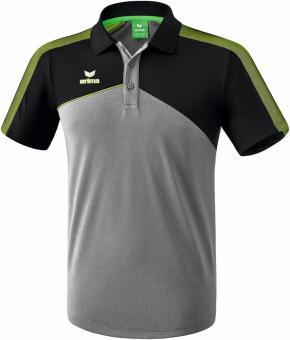 PREMIUM ONE 2.0 poloshirt function grey-melange/black/lime pop