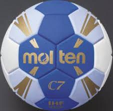 Handball C7 blau/hellblau/weiß/gold