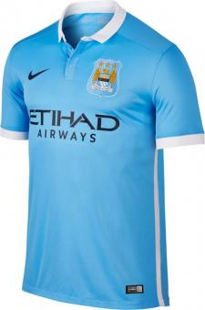 MCFC SS HOME STADIUM JSY CHALK BLUE/VOLTAGE GREEN