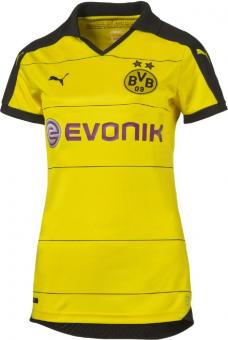 BVB Wms Home Replica Shirt BLACK-PUMA SILVER