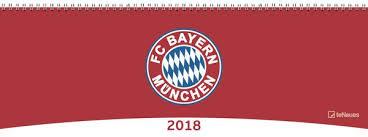 FC Bayern München Tischkalender 2018 29,7 x 10,5