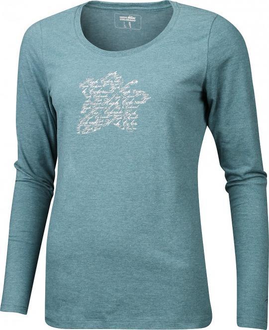 WALLIS-Winter-L Da. HC Logoshirt tannengrün melange